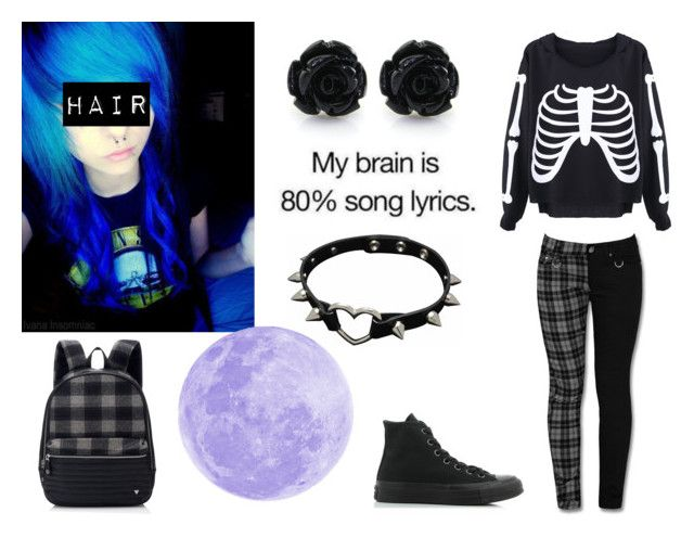 """""""Untitled #276"""" by nightstalker ❤ liked on Polyvore featuring Converse"""