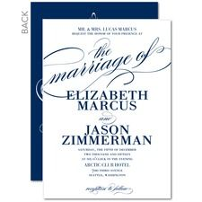 Modish Marriage Blue Wedding Invitations httpwww