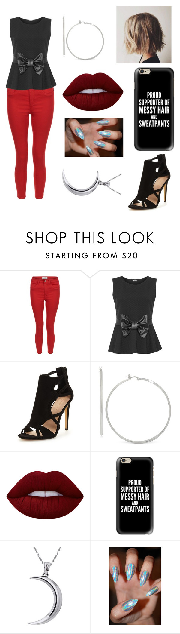 """Untitled #83"" by malyaia ❤ liked on Polyvore featuring New Look, WearAll, Lime Crime, Casetify and Carolina Glamour Collection"