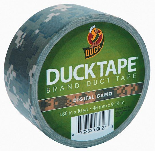 Frugal Duck 1388825 Colored Duct Tape 1.88 X 10yds 3 Core Digital Camo Conductive Wire Glue Pastes Adhesives, Sealants & Tapes