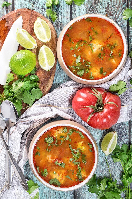 Mexican Shrimp Soup - Albóndigas de Camarón #mexicanshrimprecipes