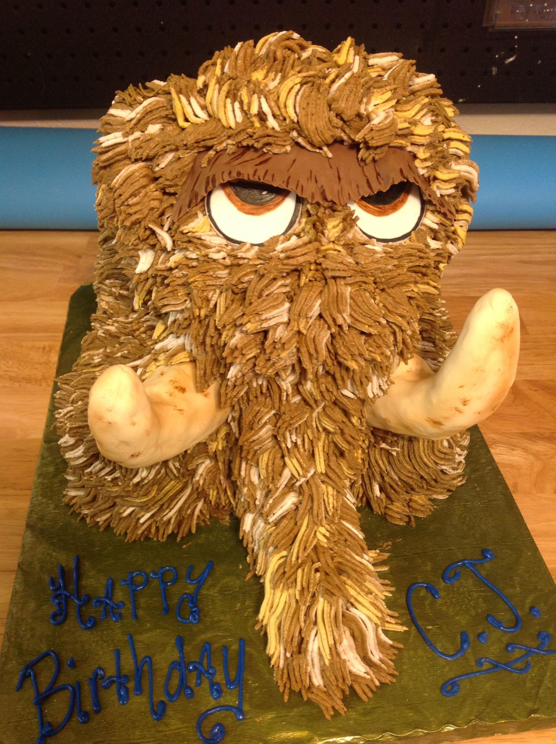 woolley mammoth cake  ice age cake kids cake crafts