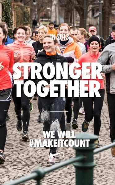 febcc6661aa Be stronger together. #makeitcount #nike #inspiration   MOTIVATION ...