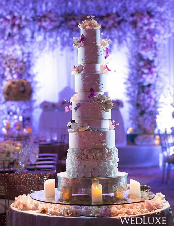 9-Tier Wedding Cake!  #IndianWedding #cake #weddingcake #weddingday #floralcake #perfect #bride #groom #love #TheWedKnock