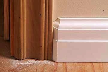 If your baseboard is thicker than your casing use a for Baseboards doors and more