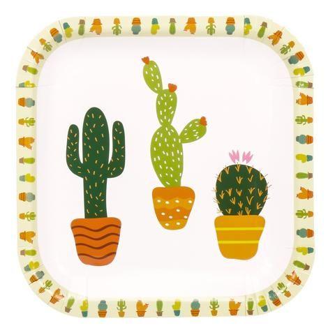 b5827370c1e $9.99 Cactus Paper Plates | Final Fiesta Bachelorette Party! | Party ...