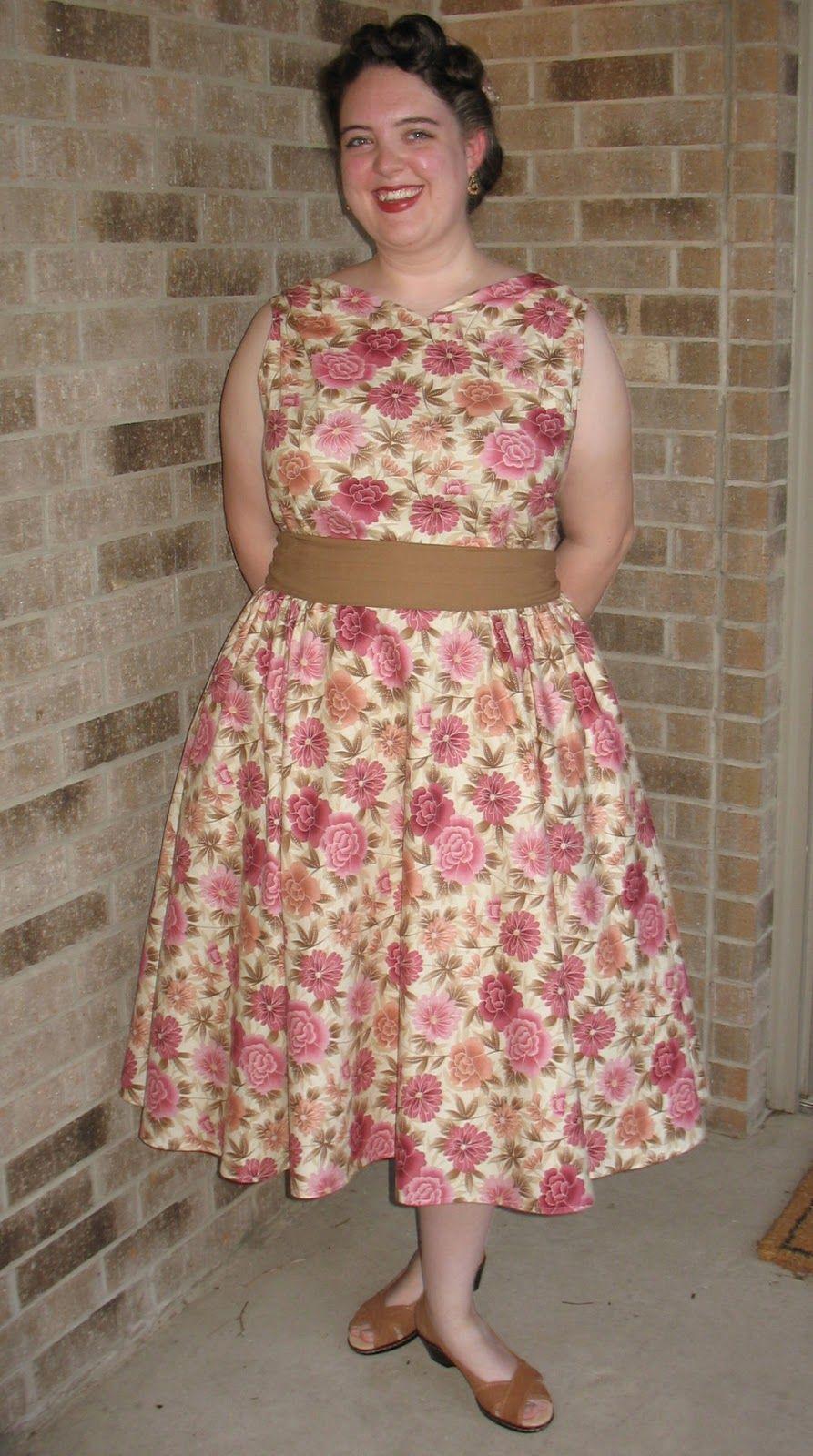 Aux Belles Choses Easter Dress 2013 Butterick 6582
