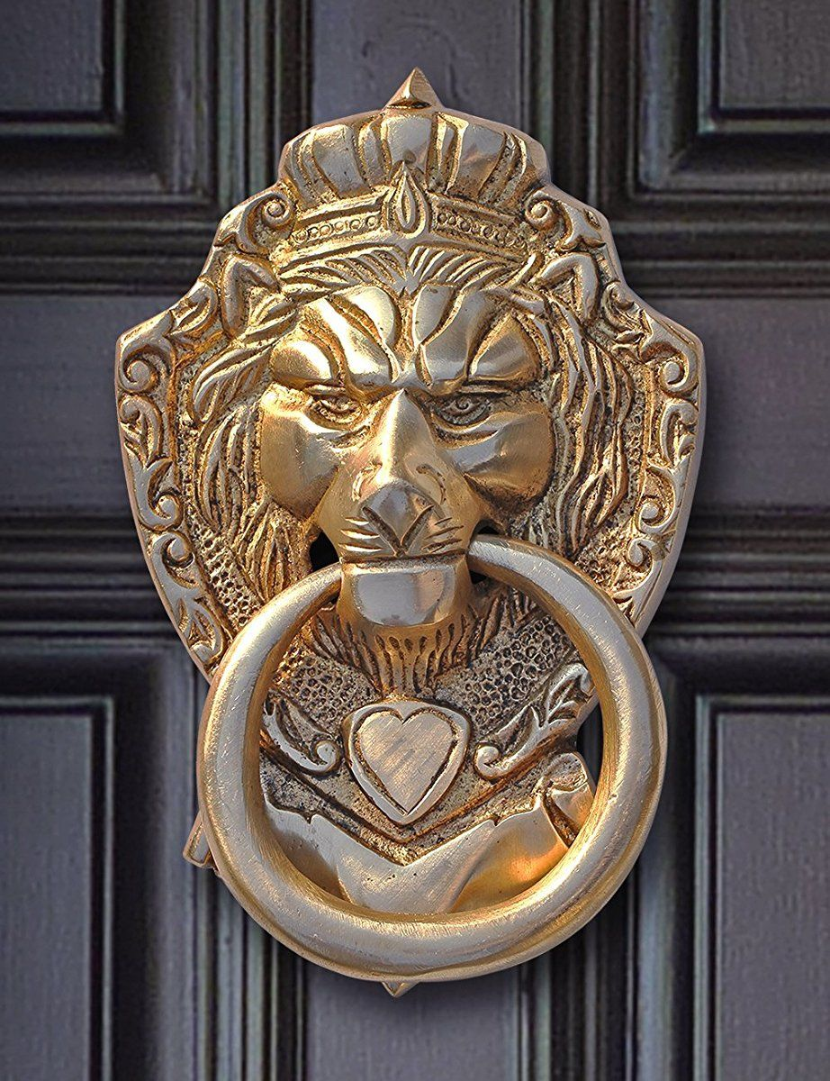 Pin On Lion Head Door Knocker