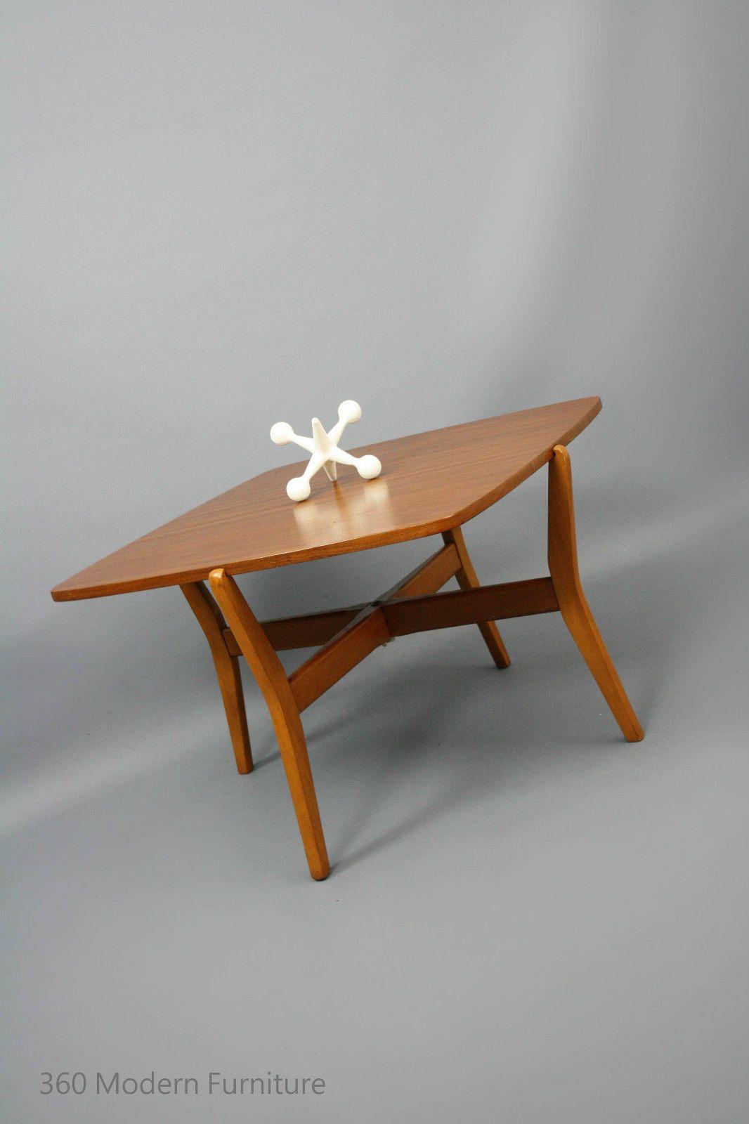 Mid century modern coffee side table teak clever space saving folding retro vintage parker danish era in narre warren 360 modern furniture vic ebay