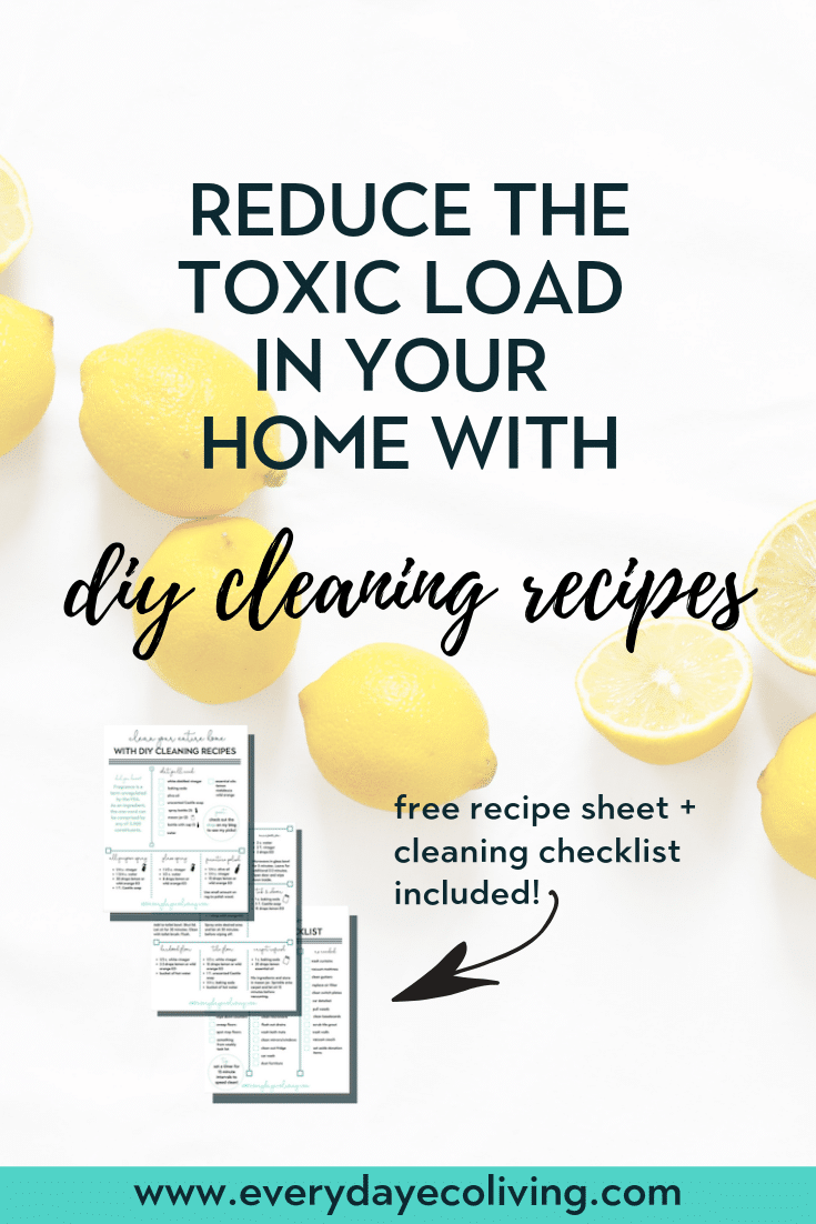 Cleaning products might be one of the first things to be swapped out in your home. Once you switch to nontoxic alternatives, you will immediately notice improvement of air quality in your home. Click to get my favorite DIY recipes plus learn about a couple of brands you can trust! #nontoxiccleaning #diycleaning #essentialoilsdiy