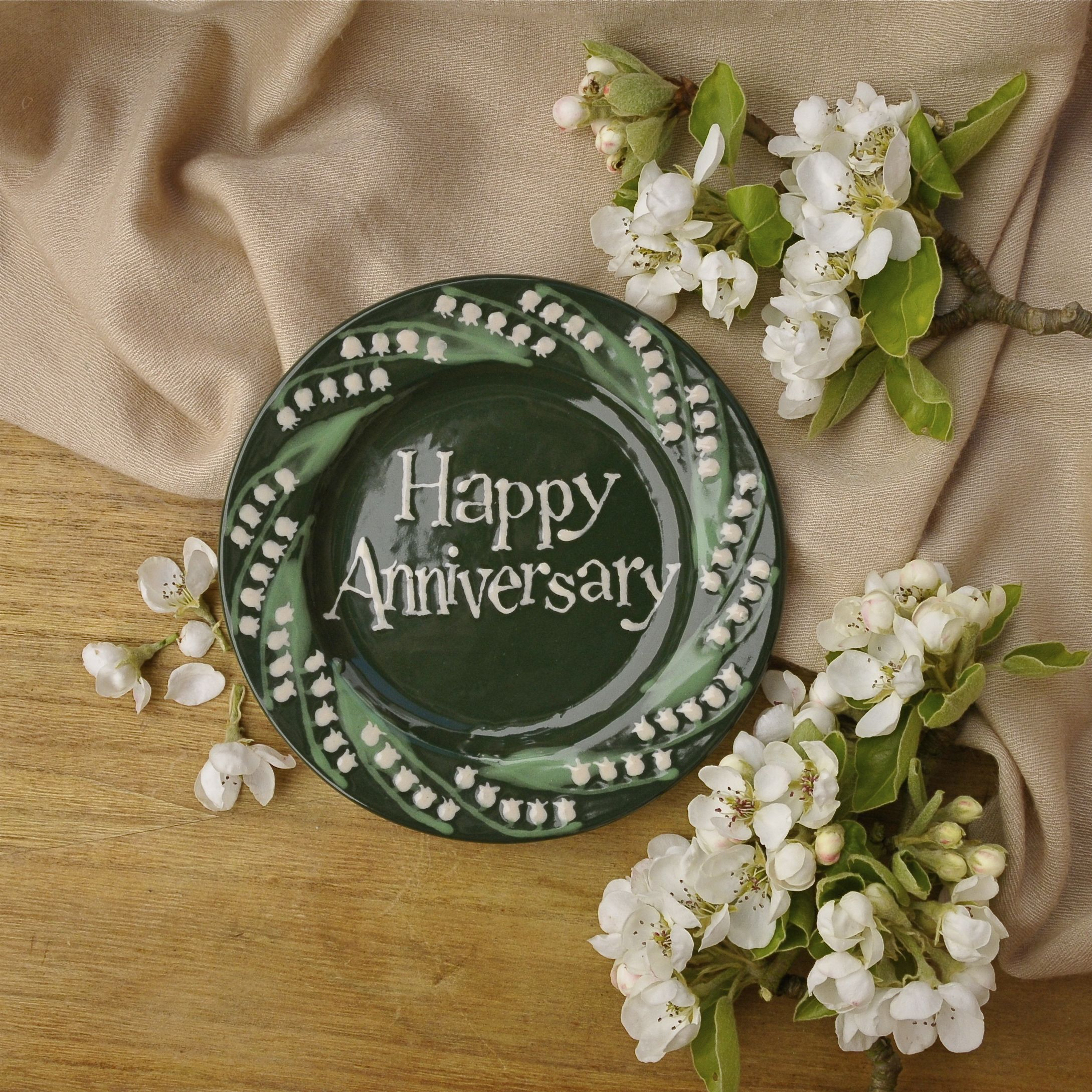 Lily of the Valley Little plate #Anniversarygift #Weddinggift #personalisedgift