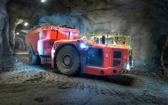 Download wallpapers Sandvik TH663i, 2017, special equipment