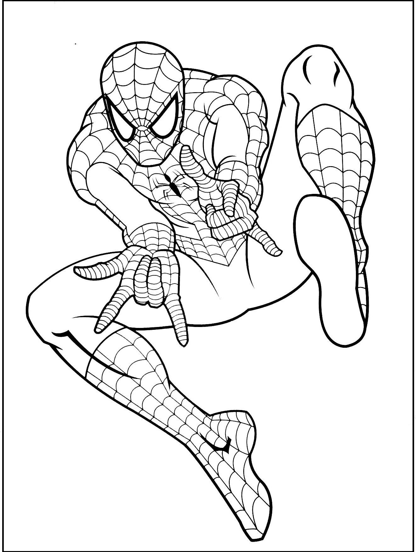 Spiderman Gratuit Coloring Picture For Kids Birthday Party