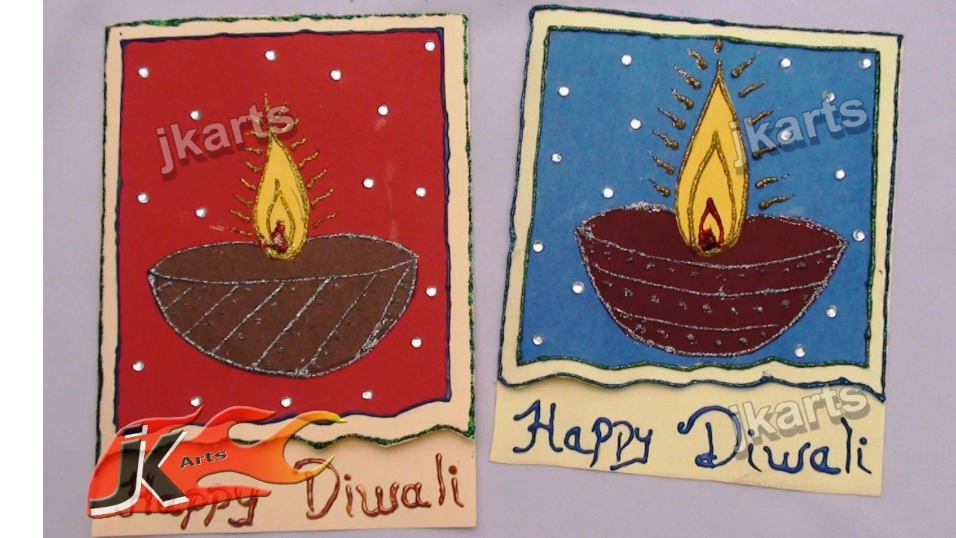Diy how to make diwali greeting card school project for kids jk diy how to make diwali greeting card school project for kids jk arts kristyandbryce Gallery