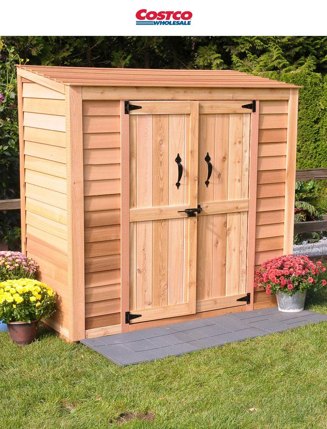 6 X 3 Cedar Garden Storage Shed Shed Storage Garden Storage