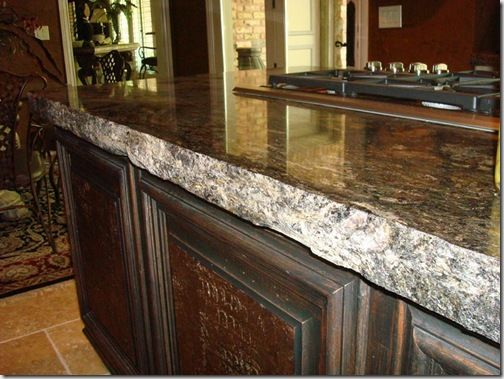 Perfect Rough Edge On Granite Counter Top
