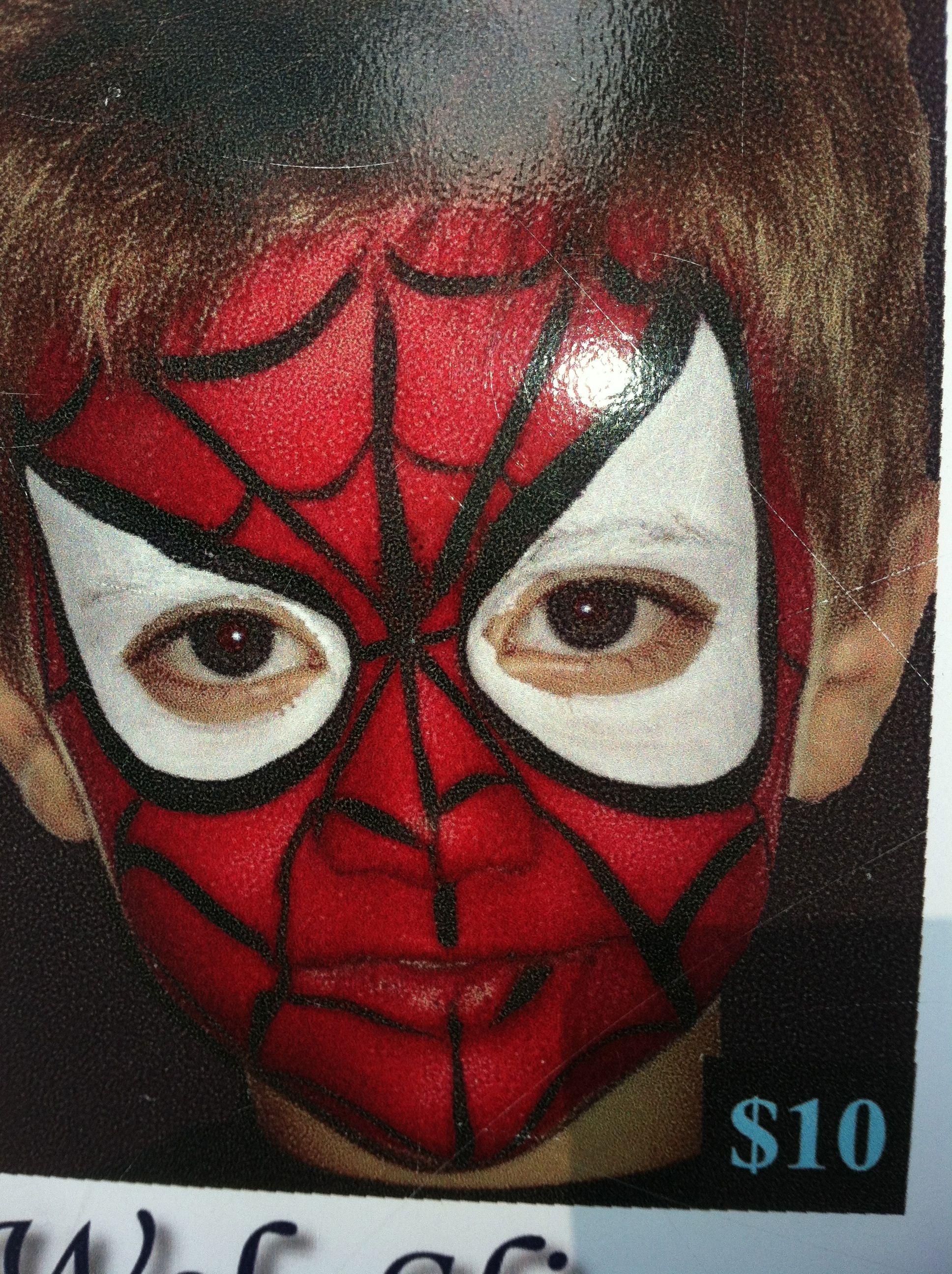 Spider Man Face Paint Ideas Pinterest