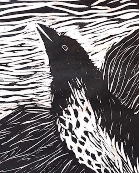 Lynn Watt | 'Alison's Bird', linocut