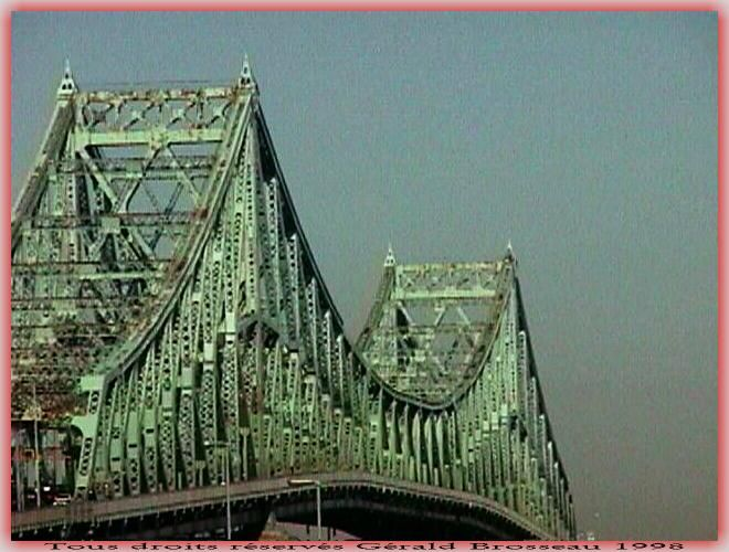 Jacques-Cartier Bridge, an iconic symbol of the city of Montreal.
