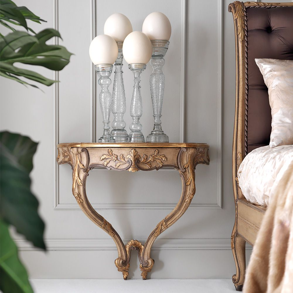 High End Designer Italian Wall Mounted Bedside Table