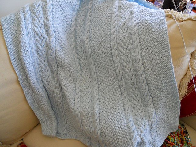 Aran Baby Blanket My Knitting Collection Pinterest Projects, Babies and...