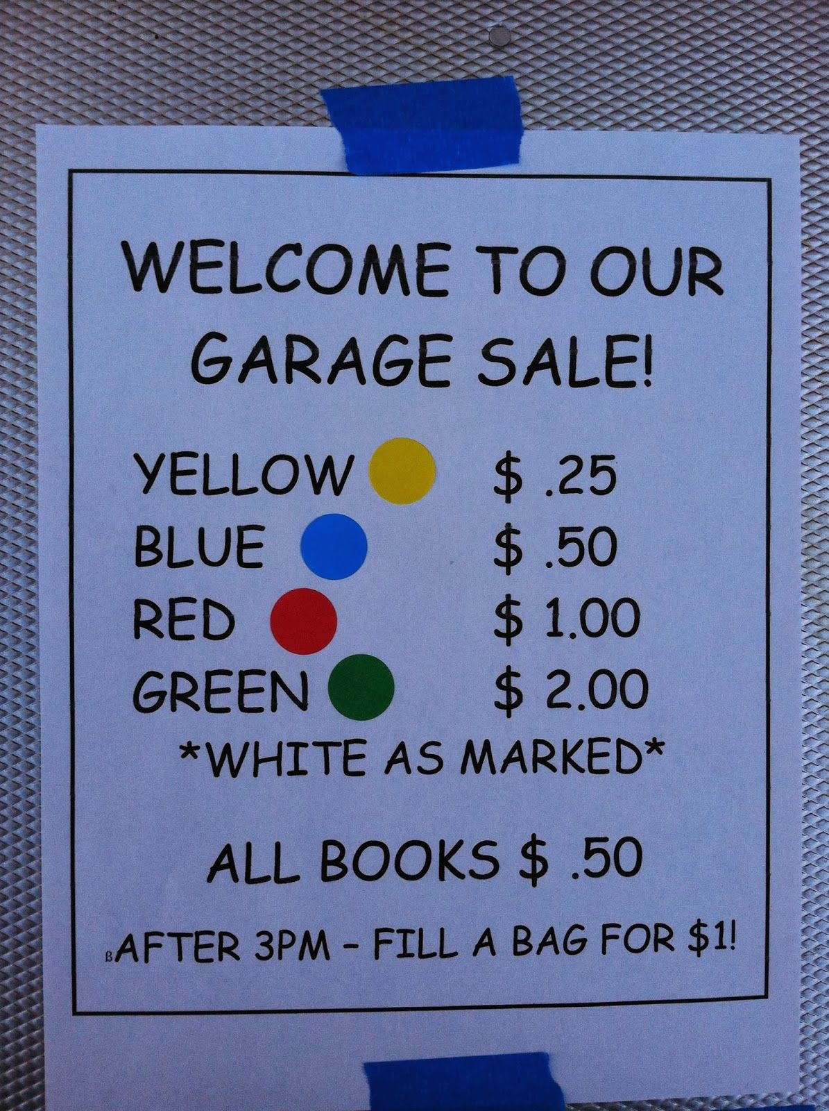 tales of a town-wide garage sale