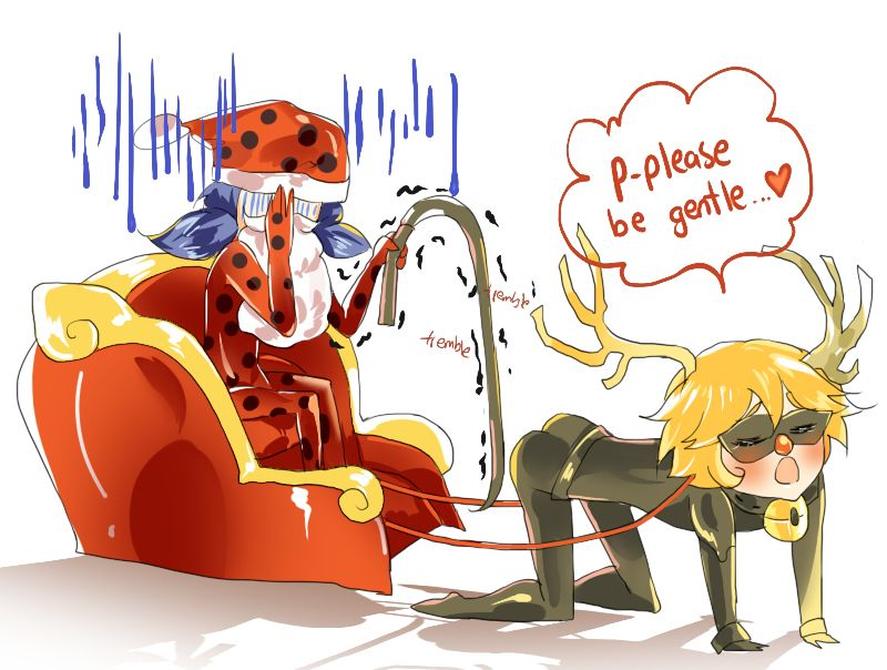 Oh my god  He would  (Miraculous Ladybug, Chat Noir, Christmas, wtf