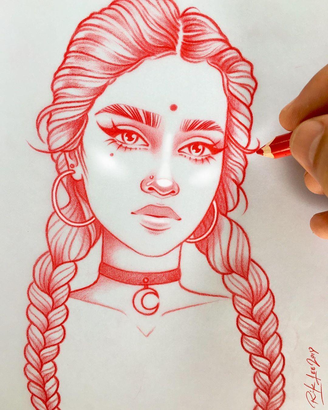 12 8 Mil Me Gusta 86 Comentarios Rik Lee Rikleeillustration En Instagram What S Your Favorite Faci In 2020 Cool Art Drawings Art Sketches Girl Drawing Sketches