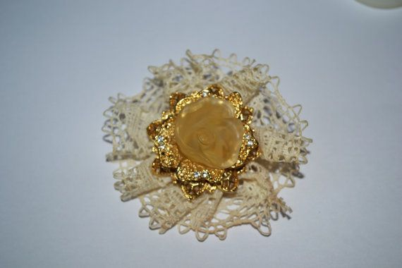 Flower Brooch Large Beautiful Vintage Jewelry for by eventsmatters