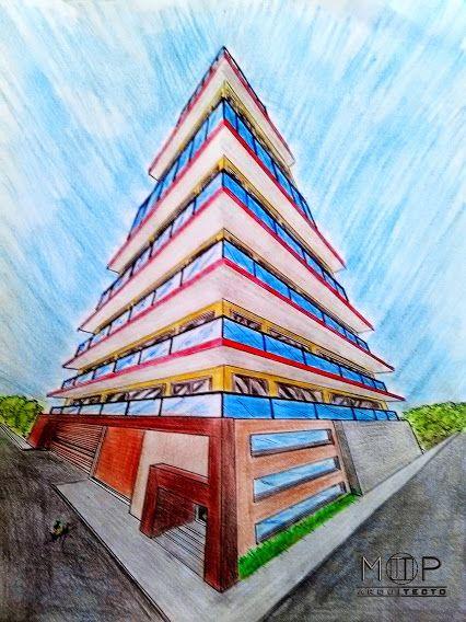 Bosquejo... Proyecto: Departamentos 7N Arquitecto: Martin T. Piña  Técnica: Lapices de colores - Mano alzada -Momentos Piña
