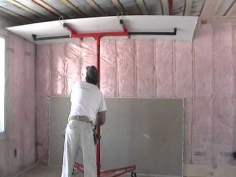 Ceiling Drywall Install With Lift By Laurier Desormeaux Build My Own House Screw Guns Drywall