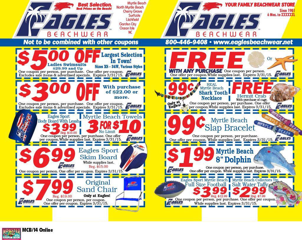 Eagles Beachwear Myrtle Beach Resorts Vacation