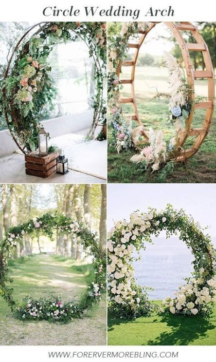 Wedding Arch Circle Diy 47 Best Ideas -   15 garden wedding Decoracion ideas