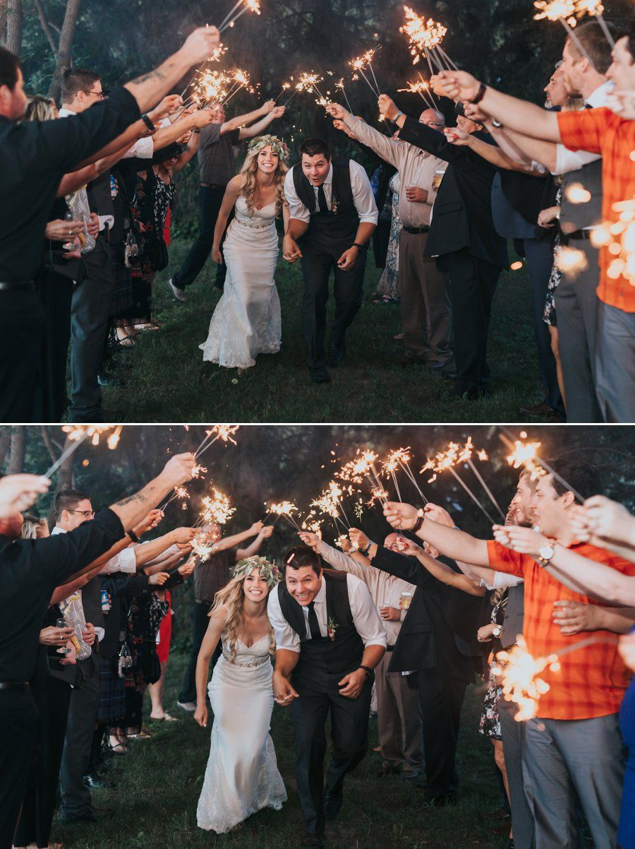 Edmonton Boho Wedding Featuring Smoke Bombs Antlers Boho
