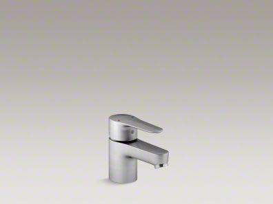 July Single-handle bathroom sink faucet K-16027-4-G, Satin Chrome   KOHLER