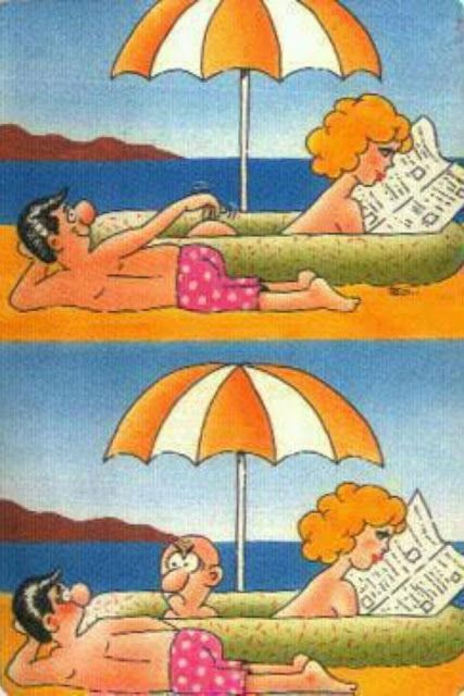 Grateful for Nude comic humor beach all not