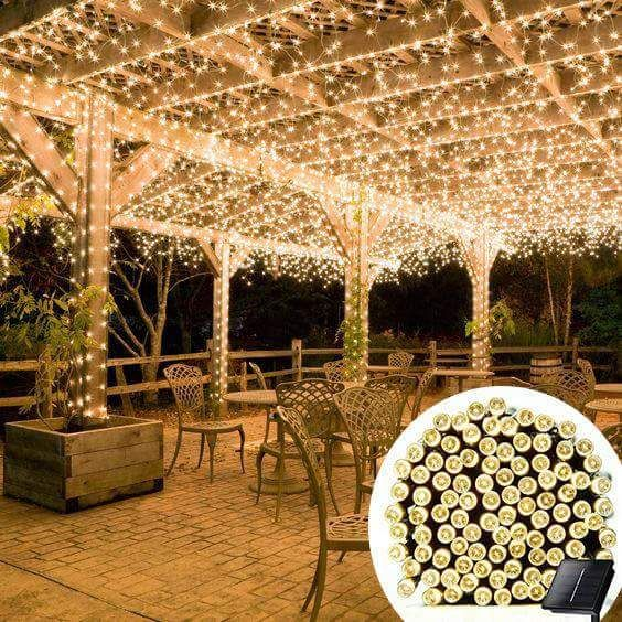 Dars Porch And Patio Hours: Solar-Powered LED Fairy Lights (55 Ft)