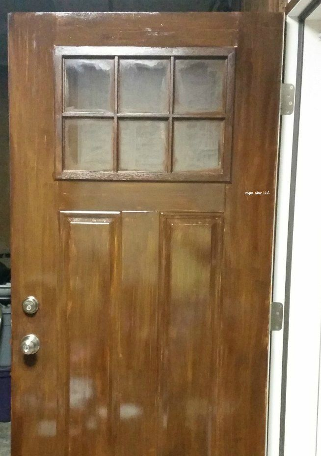 Stain metal door to look like wood is part of Painting metal doors, Metal door, Wood front doors, Steel doors, Doors, Wood - Metal doors are great for protecting from the elements  But if you want the wood look, it's expensive  You can stain metal door to look like wood yourself