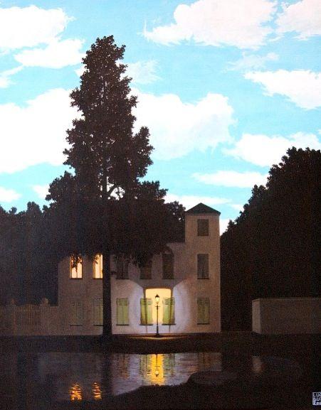 My favourite paining series and artist - René Magritte - L'Empire des lumières 1947.
