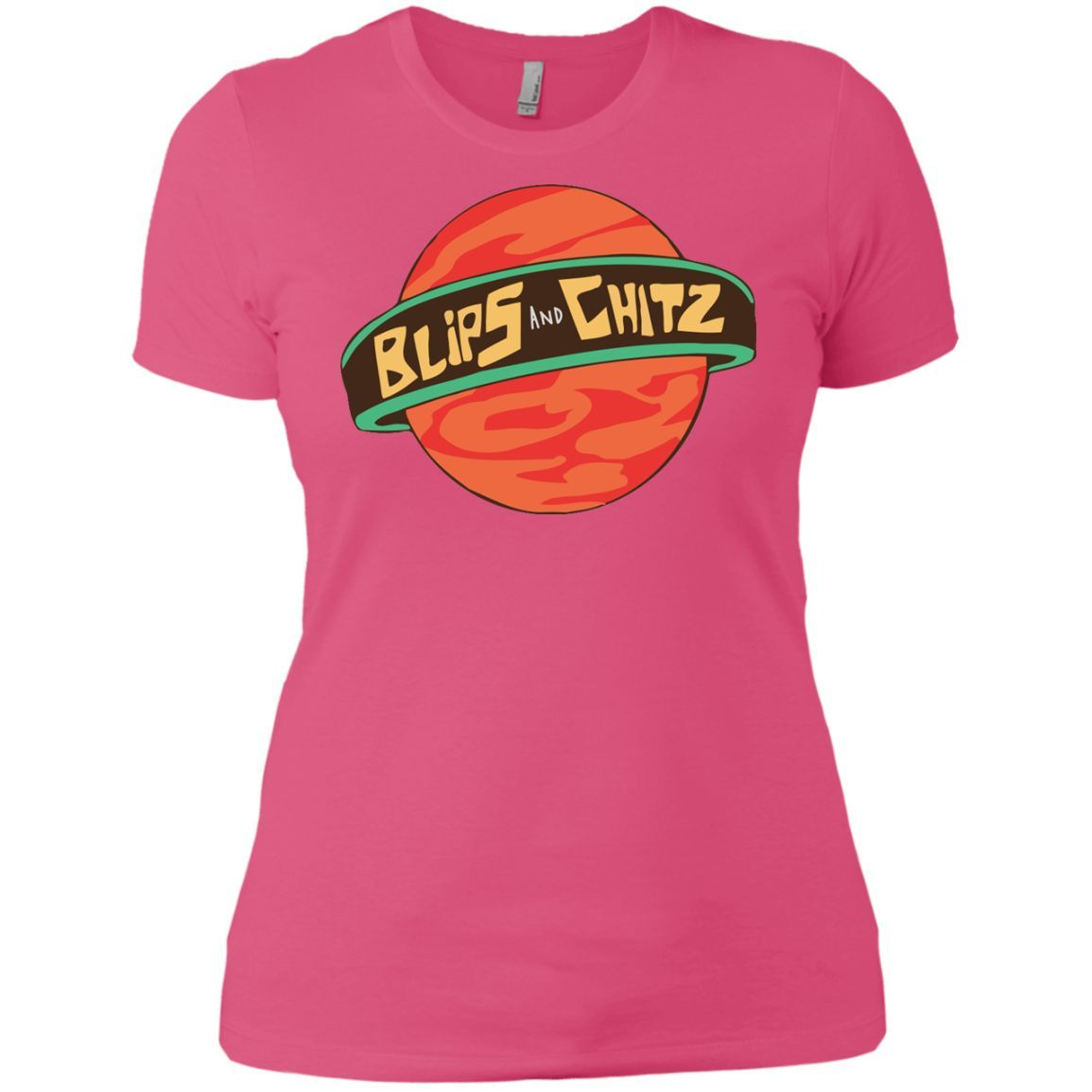 Rick & Morty - Blips And Chitz-01 Next Level Ladies\' Boyfriend Tee ...