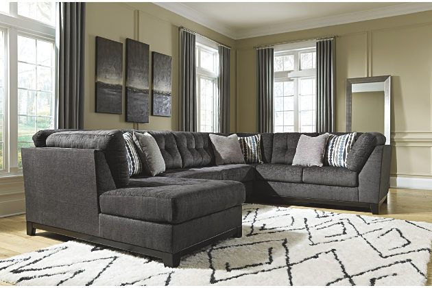 Best Reidshire 3 Piece Sectional With Chaise Ashley Furniture 400 x 300