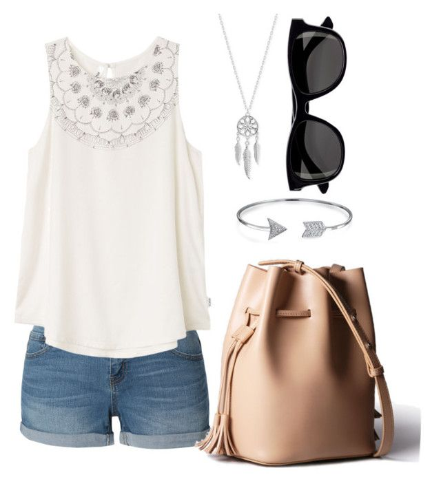 """""""Summer Outfit"""" by spellbooks-and-wands-xo ❤ liked on Polyvore featuring LE3NO, RVCA, Lucky Brand, Bling Jewelry, H&M and summertime"""