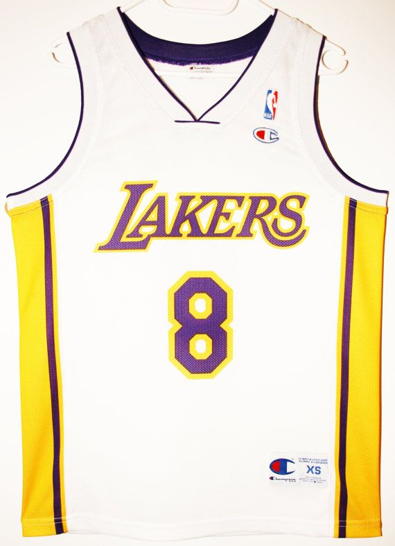 cheaper 69e74 9197c Vintage champion NBA basketball Los Angeles Lakers #8 Kobe ...