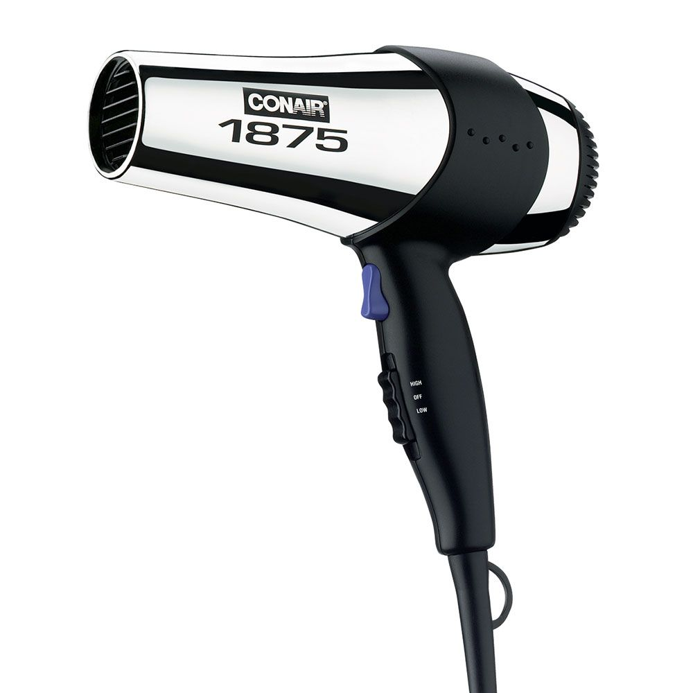 Keep your hotel guests sleek and styled during their stay with this full-size hair dryer from Conair. With 2 heat/speed settings and a cool shot button, this is a great hair dryer to add to your hotel's rooms!
