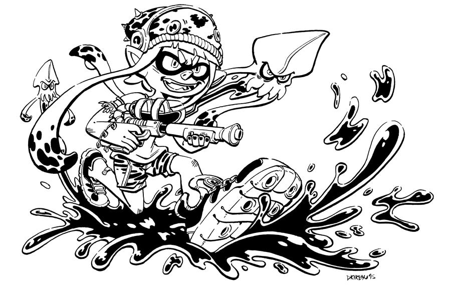 Splatoon Coloring Pages Coloring Pages | crafts for boys | Coloring ...