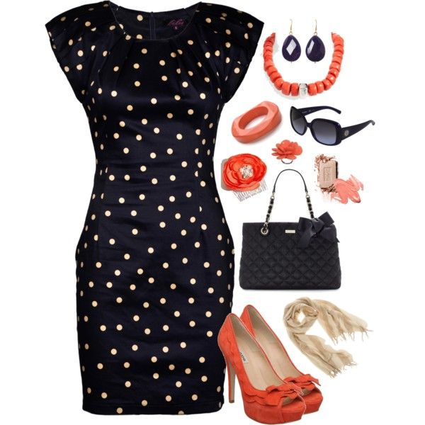 Navy & Coral, created by smgilreath.polyvore.com