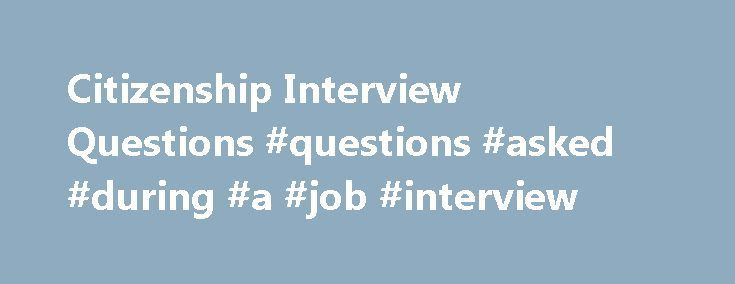 frequently asked questions in an interview