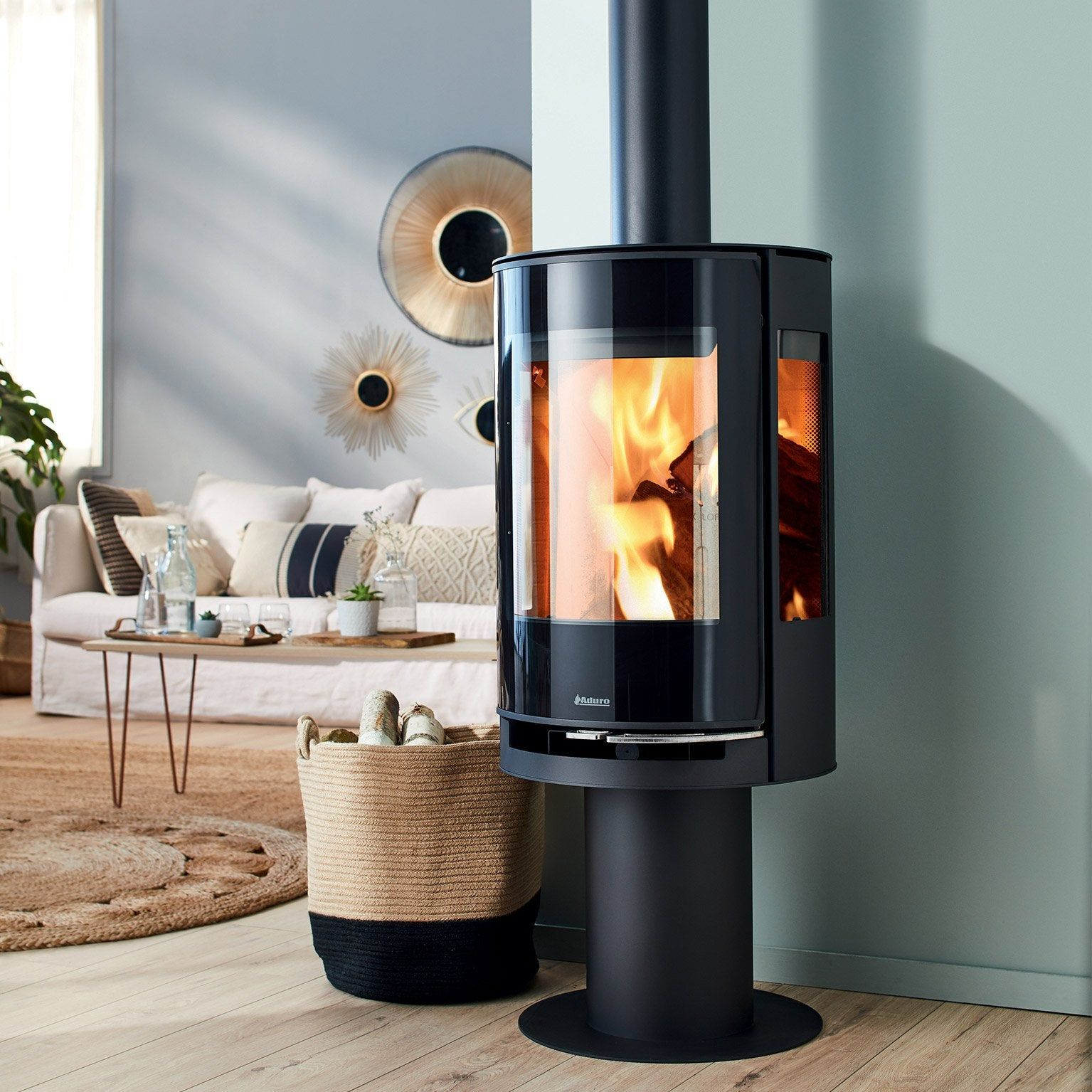 Poele A Bois Aduro 9 3 Lux 6 Kw In 2020 Wood Stove Home