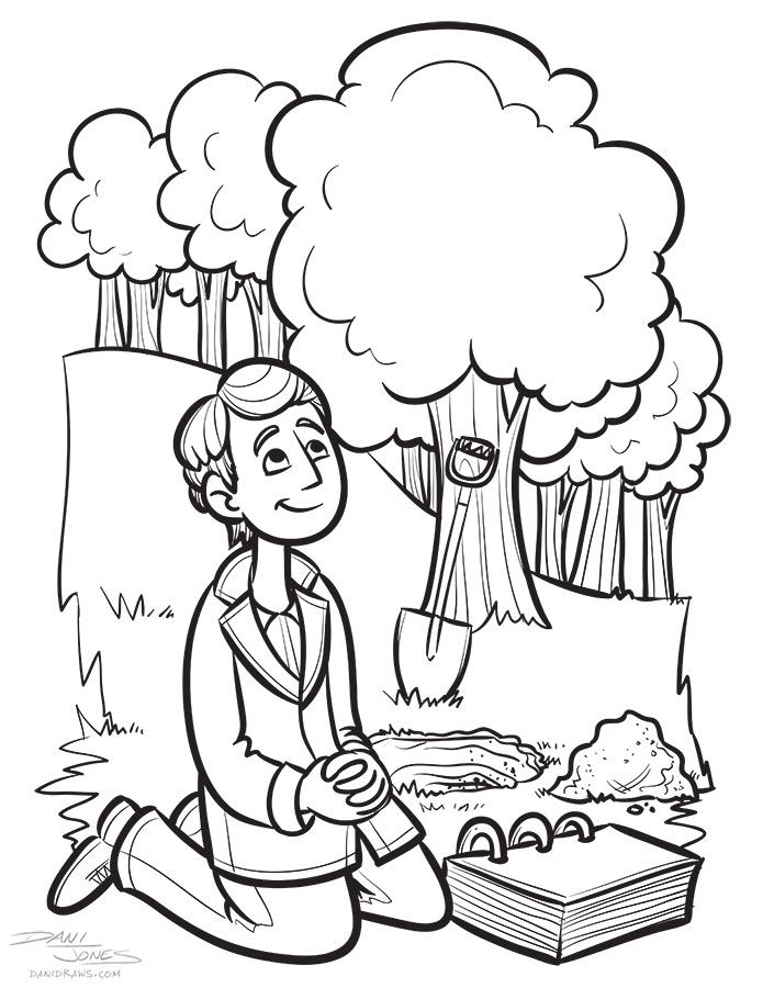 Coloring Page Art For The LDS Book App Mobile Apps