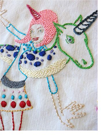 Tara McPherson's embroidery pattern in the Sublime Stitching Artist Series $5